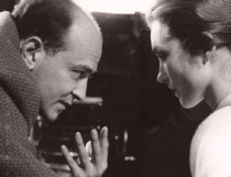 Karel Reisz discusses a scene with Shirley Anne Field