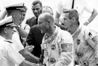 Tom Stafford & Gene Cernan on board USS Wasp after Gemini 9 splashdown