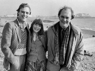 Christopher Cazenove, Alison Steadman & Alan Ayckbourn in Brighton in 1979 for Ayckbourn's play 'Joking Apart'