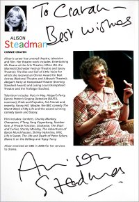 Alison Steadman has signed her page of the programme for 'Enjoy'