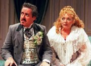 Griff Rhys Jones & Alison Steadman in Horse and Carriage'