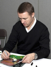 Stephen Hendry signing photograph