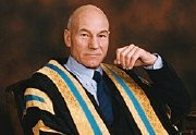 Patrick Stewart as Chancellor of Huddersfield University