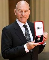 Sir Patrick Stewart after receiving his knighthood.