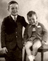 Patrick Stewart aged four, with his older brother Trevor