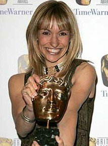 Michaela Strachan in 2005 with her Children's BAFTA for presenter of 'Michaela's Wild Challenge'