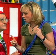 Michaela Strachan with Timmy Mallett in 'Wide Awake Club'