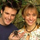 Michaela Strachan and Nick Baker, co-presenters of 'The Really Wild Show'