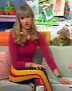 Michaela Strachan in a 1980s children's TV show