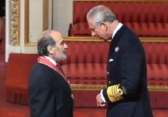 David Suchet receives his CBE from Prince Charles in 2011