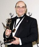 David Suchet with his Emmy Award for 'Maxwell' in 2007