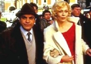 David Suchet as Inspector Japp with Faye Dunaway in Agatha Christie's 'Thirteen at Dinner' (1985)