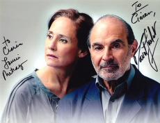 Publicity photo from 'Long Day's Journey Into Night' signed by Laurie Metcalf & David Suchet
