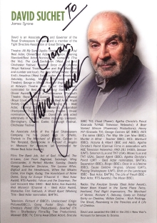 Programme for 'Long Day's Journey into Night' signed by David Suchet