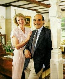 David Suchet and his wife Shiela Ferris photographed for a Hello! Magazine feature (22 July 1989)