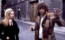 Lalla Ward and Tom Baker in Dr Who