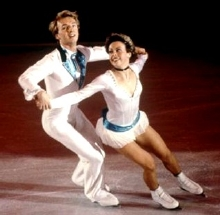 Torvill and Dean skating their 'Barnum' routine