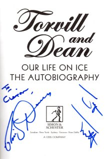 Jayne Torvill and Christopher Dean autographs