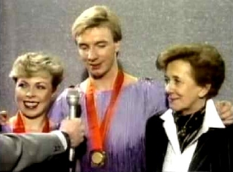 Jayne Torvill, Christopher Dean & Betty Calloway interviewed after their gold medal success in Sarajevo in 1984