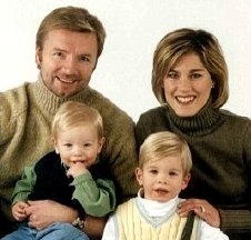 Christopher Dean and Jill Trenary with their sons Sam and Jack