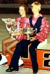 Christopher Dean & Sandra Elson after winning the British Junior Dance Championships at Nottingham in 1974