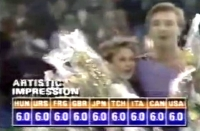 Torvill and Dean score fulll marks at the Sarajevo Olympics!