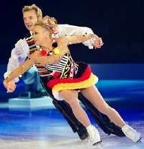 Torvill and Dean skating one of their many Ice Dance routines