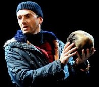 David Tennant holds the skull of Andre Tchaikovsky in the RSC production of Shakespeare's 'Hamlet' (2008)