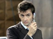David Tennant as The Doctor, with his sonic screwdriver