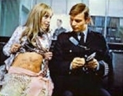 Susan George as 'Fred' March in 'The Strange Affair'