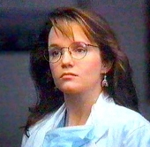 Lea Thompson as Dr Robin Van Dorn in 'Article 99' (1992)