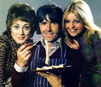 Paula Wilcox, Richard O'Sullivan and Sally Thomsett in 'Man About The House'