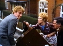 Christopher Timothy, Avril Elgar and Joseph Greig in 'Spring and Port Wine' (1970)