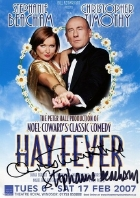 Flyer for 'Hay Fever' signed by Christopher Timothy and Stephanie Beacham