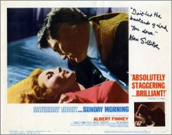 Saturday Night and Sunday Morning Lobby Card 1