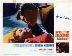 Saturday Night and Sunday Morning Lobby Card 1a