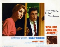 Saturday Night and Sunday Morning Lobby Card 2