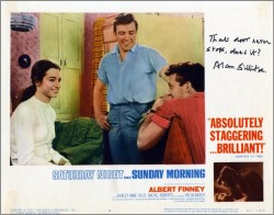 Saturday Night and Sunday Morning Lobby Card 7