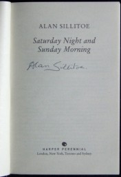Saturday Night and Sunday Morning book signed by Alan Sillitoe