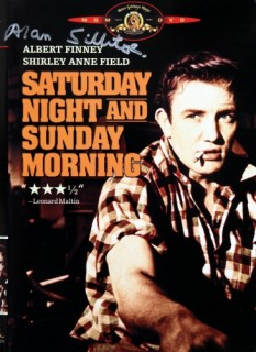 Saturday Night and Sunday Morning dvd cover (1) signed by Alan Sillitoe
