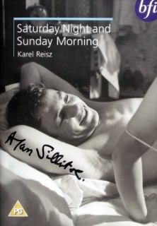 Saturday Night and Sunday Morning dvd cover (2) signed by Alan Sillitoe
