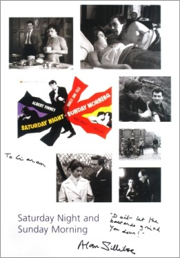 Saturday Night and Sunday Morning montage signed by Alan Sillitoe