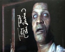 Tony Todd signed photo showing him as Ben in 'Night of the Living Dead'