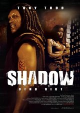 Tony Todd pictured on the dvd cover of 'Shadow: Dead Riot'