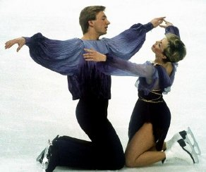 Torvill and Dean at the start of their 'Bolero' routine