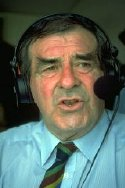 Fred Trueman commentating for 'Test Match Special'