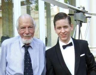 Ken Wallis with Ciaran Brown