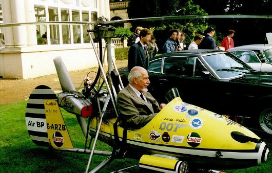 Ken Wallis and 'Little Nellie' at Pinewood Studios in 2006