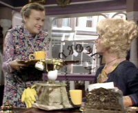 Julie Walters as Mrs Overall & Celia Imrie in 'Acorn Antiques'
