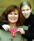 Julie Walters with her OBE, and daughter Maisie